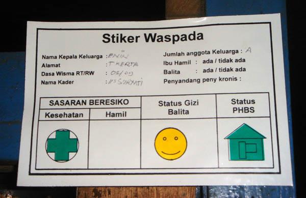 Stiker Waspada